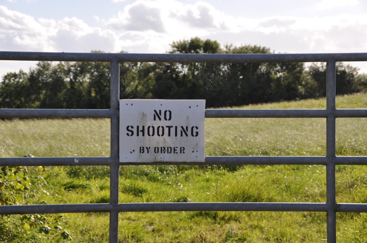 Ballyministragh shooting sign
