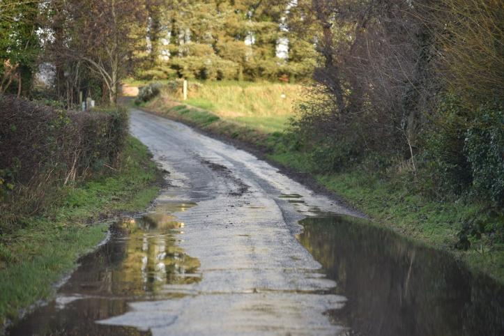 Ballyaltikilligan wet road