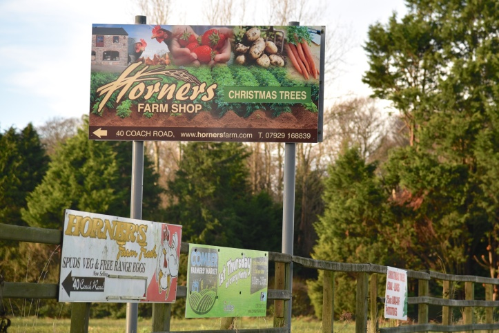 Horners farm shop signs