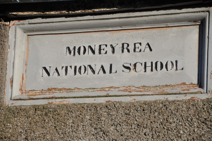 moneyrea national school sign