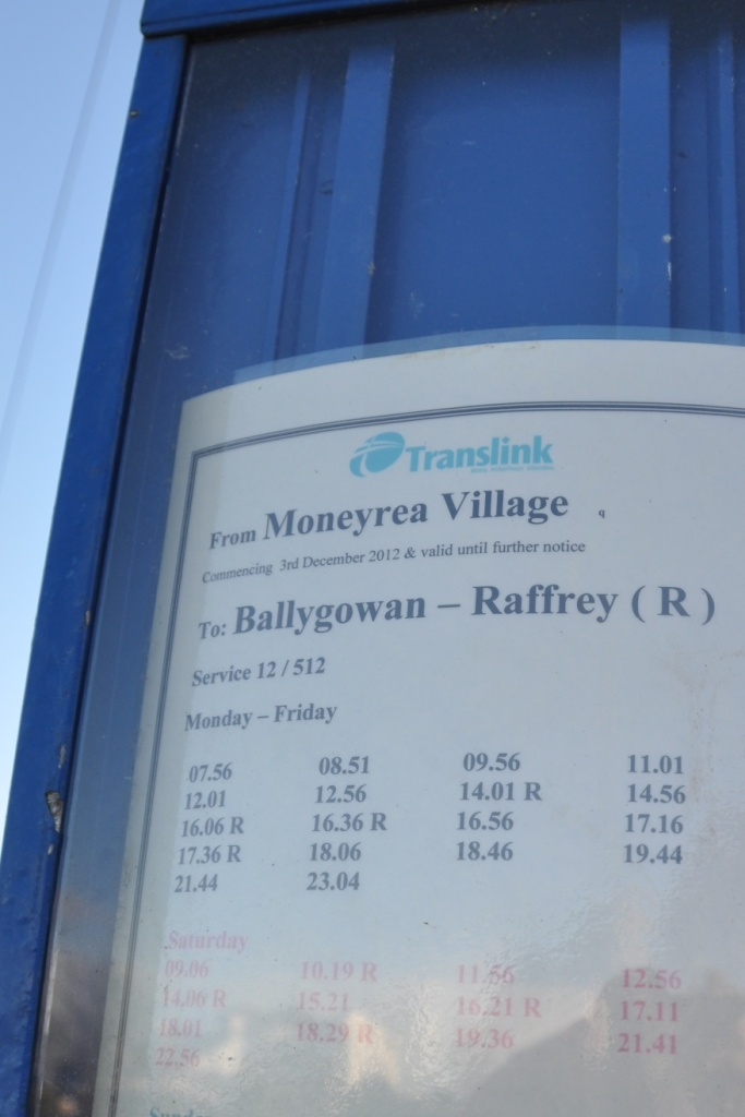 Raffrey bus timetable