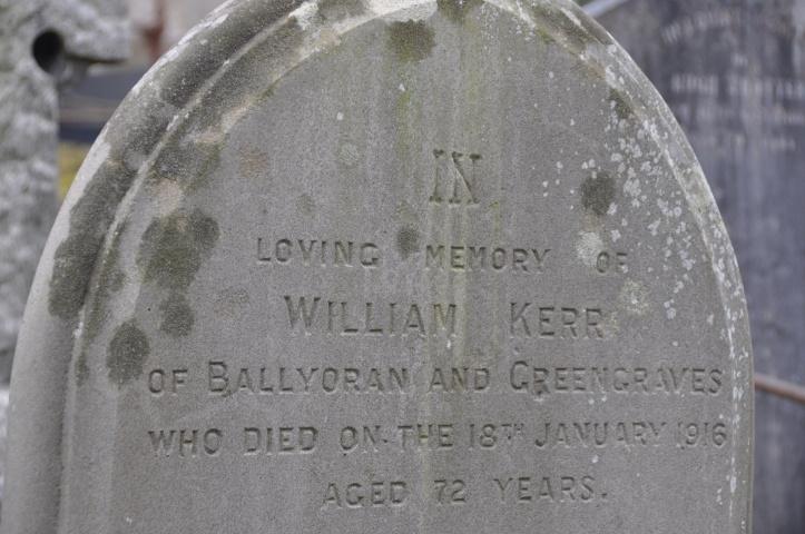 Ballyoran Greengraves gravestone