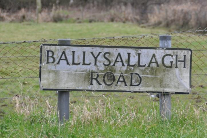 Ballysallagh road sign