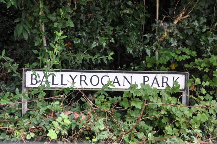 Ballyrogan Park sign