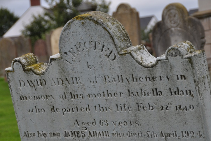 Comber grave Ballyhenry 1840 Adair