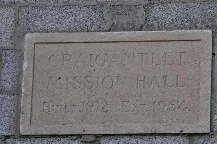 craigantlet mission hall sign