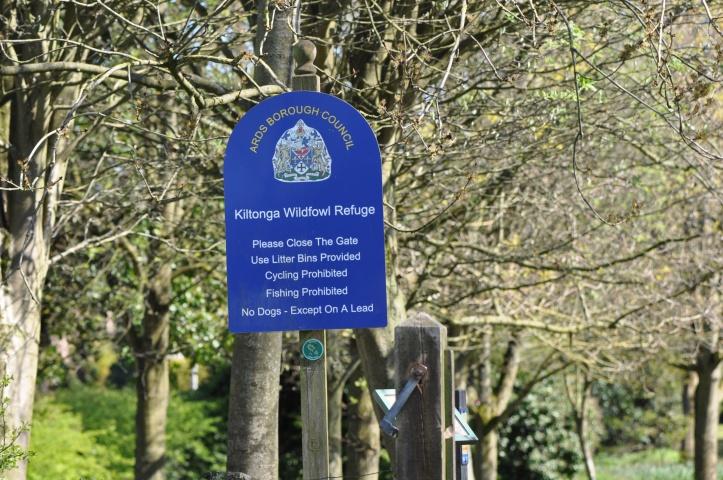 Kiltonga Wildfowl Refuge sign