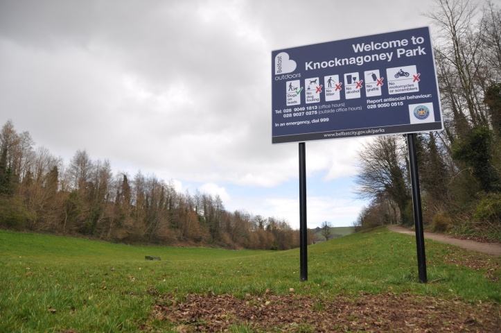 Knocknagoney Park sign