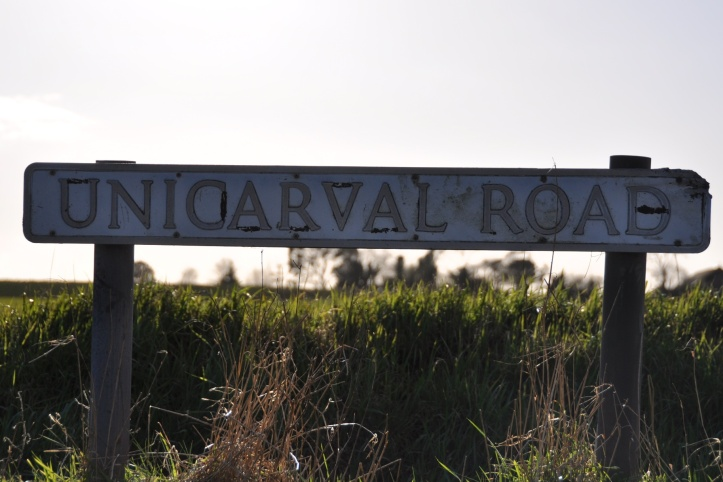 Unicarval Road sign
