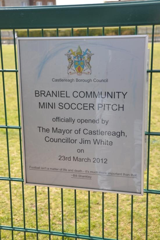 Braniel football sign