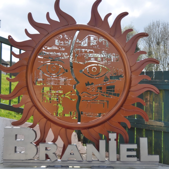 Braniel sun sculpture