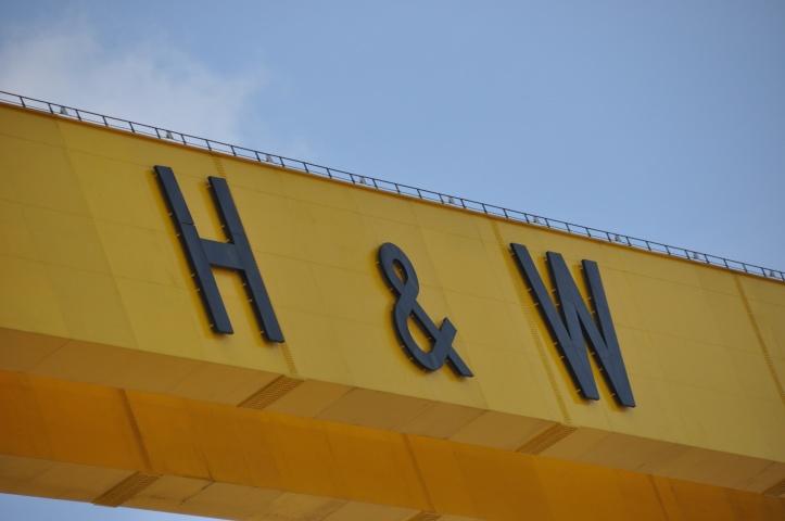 H & W crane initials