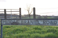 Middle Braniel Road sign