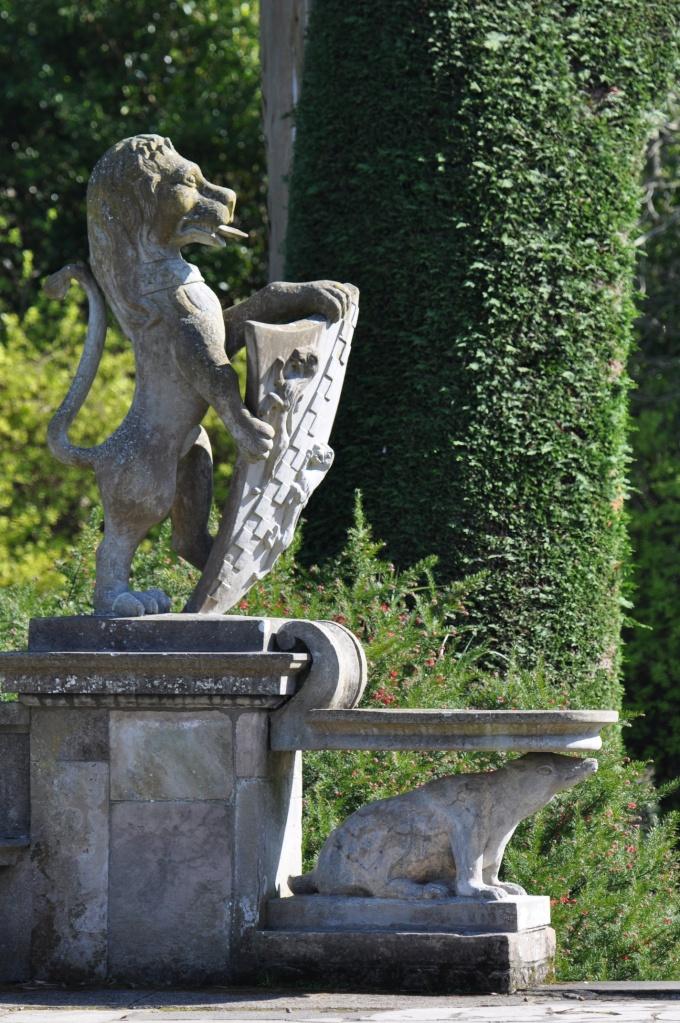 Mount Stewart lion statue