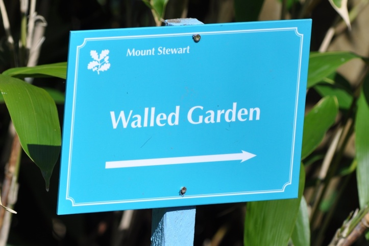 Mount Stewart walled garden sign