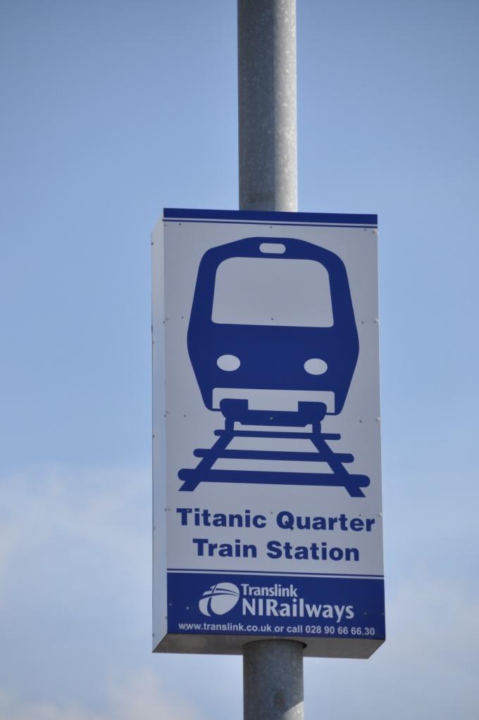 Titanic Quarter sign