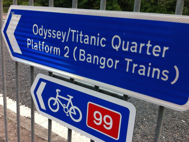 Titanic Quarter train sign