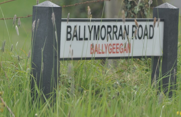 Ballymorran Road sign in Ballygeegan