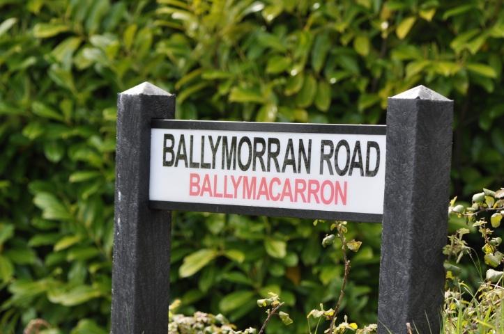 Ballymorran Road sign in Ballymacarron