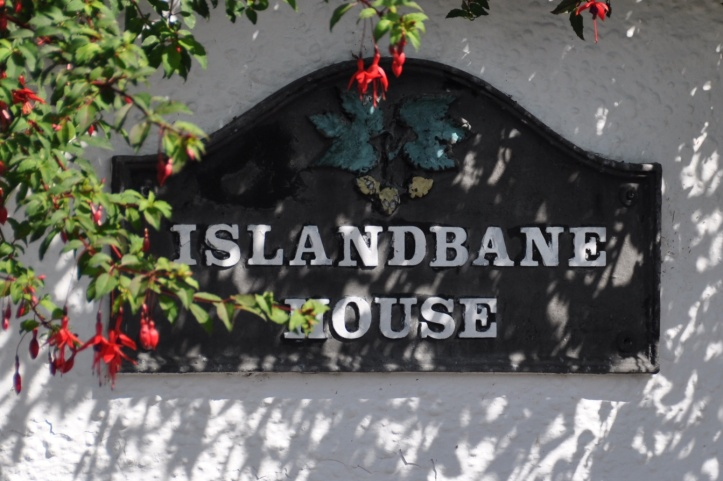 Islandbane House sign