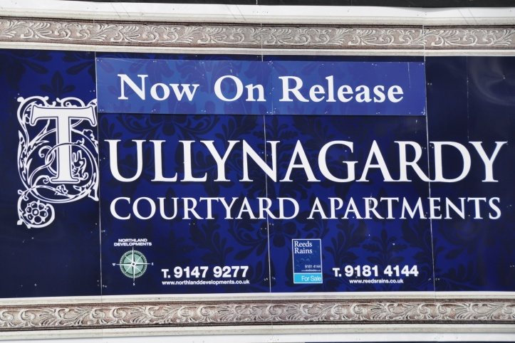 Tullynagardy Apartments sign