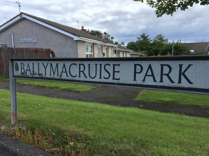 Ballymacruise Park sign