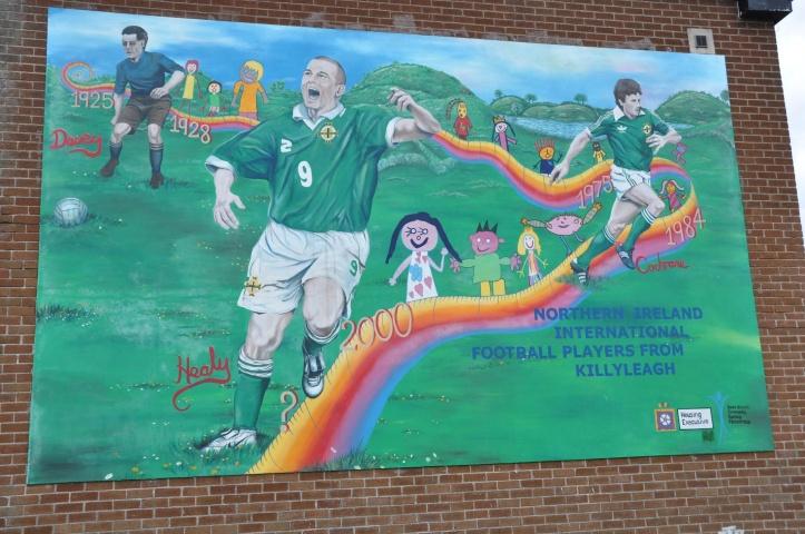 Killyleagh mural footballers