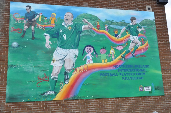 Killyleagh mural footballers