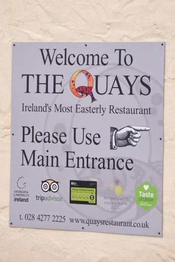 Portavogie Quays sign