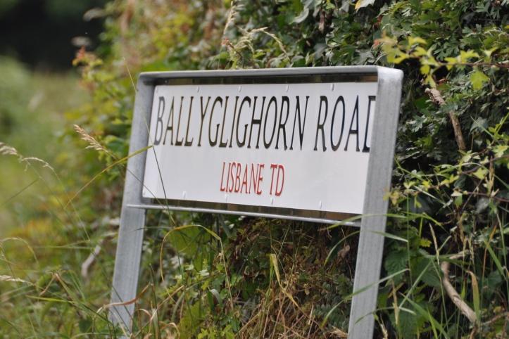 Lisbane sign on Ballyglighorn Road