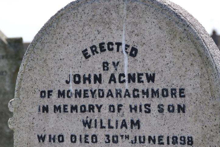 Moneydorragh gravestone