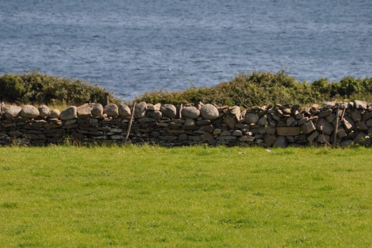 Stone wall and sea