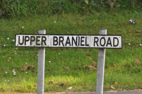 Upper Braniel Road sign