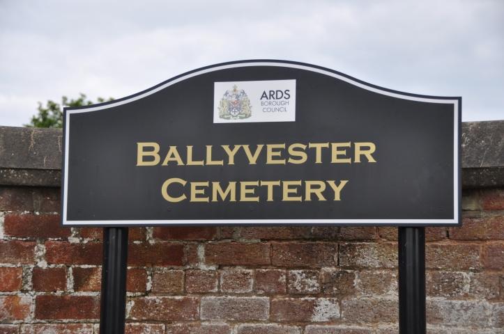 Ballyvester Cemetery sign