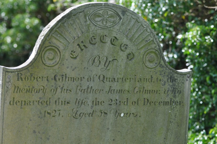 Gravestone for Gilmor 1827 Quarterland in Killaresy