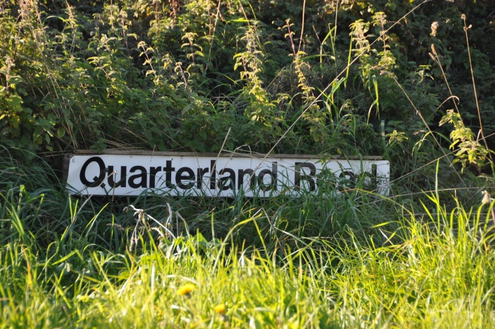 Quarterland Road sign
