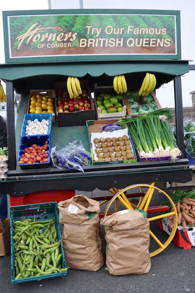 Comber Market Horners veg stall