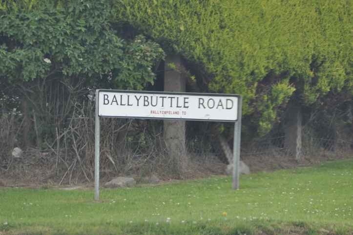 Ballybuttle Road Ballycopeland sign