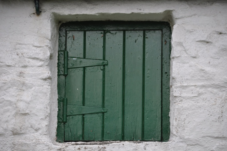 Ballycopeland Windmill green door