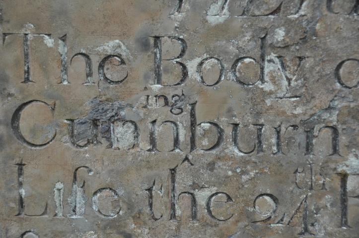 Cunnningburn gravestone name only