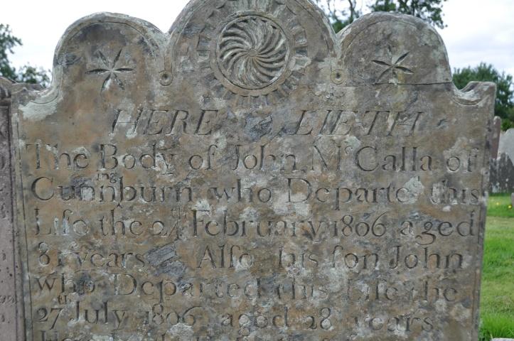 Cunnningburn gravestone