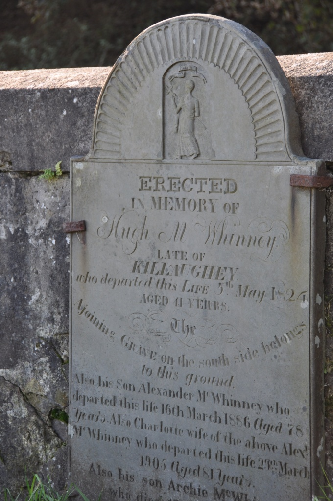 Grave for McWhinney of Killaughey in Templepatrick