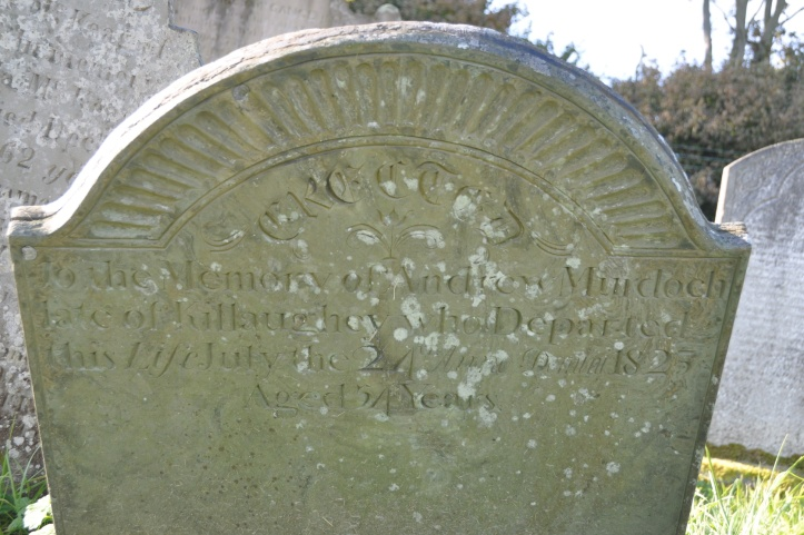 Grave for Murdoch of Killaughey in Templepatrick