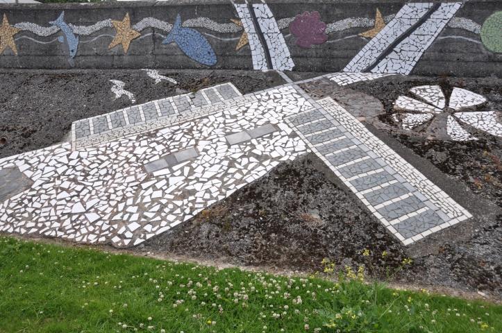 Millisle mosaic of Ballycopeland windmill