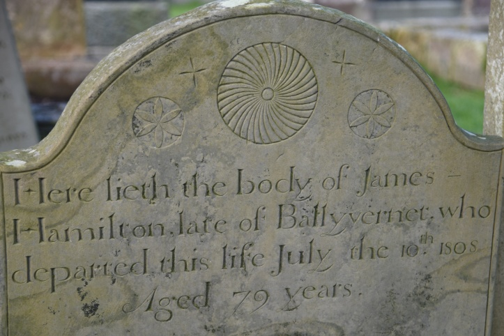 Gravestone for Hamilton of Ballyvarnet (1)