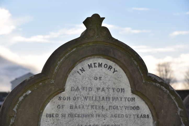 Headstone for Patton of Ballykeel in Holywood
