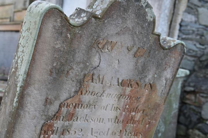 Jackson of Knocknagoney grave in Holywood