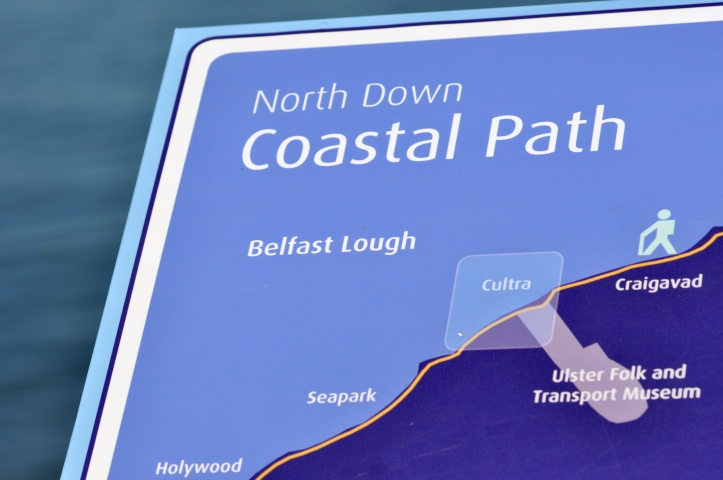 Coastal Path sign at Cultra
