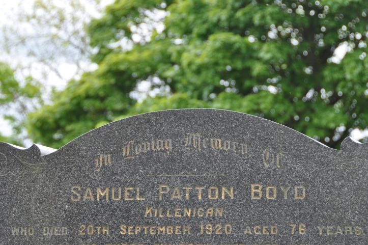 Headstone for Boyd of Killinakin in Raffrey