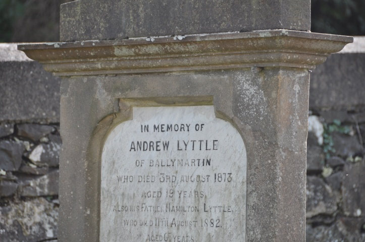 Headstone for Little of Ballymartin in Killinchy